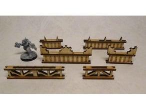 Guard rails 4 / 8 cm for 3mm laser cut MDF