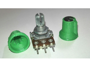 Rotating knobs for volume control for potentiometer with 6 mm knurled shaft, Height 15.8 mm.