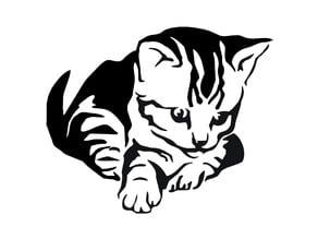 Kitten stencil 2