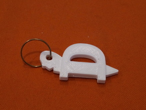 Turtle keychain D letter