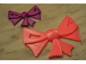 Stylized Bow Ornament - Designed by a five year old!