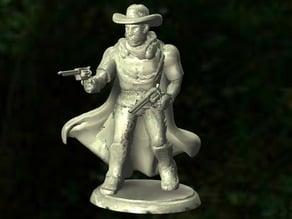 Cowboy Miniature (See Description!) - Dual Revolvers