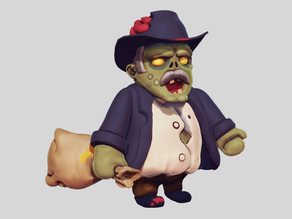 Zombie Politician / Banker / Rich Guy Character (ZombWar)