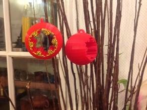 Koch Snowflake Christmas bauble / sphere