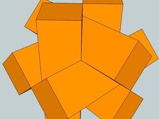 Six Piece Diagonal Burr