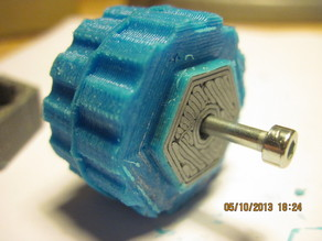 Hybrid ogoo-printed small robot wheel
