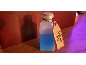 Drink Me Vial- Alice in Wonderland (Vase Mode)