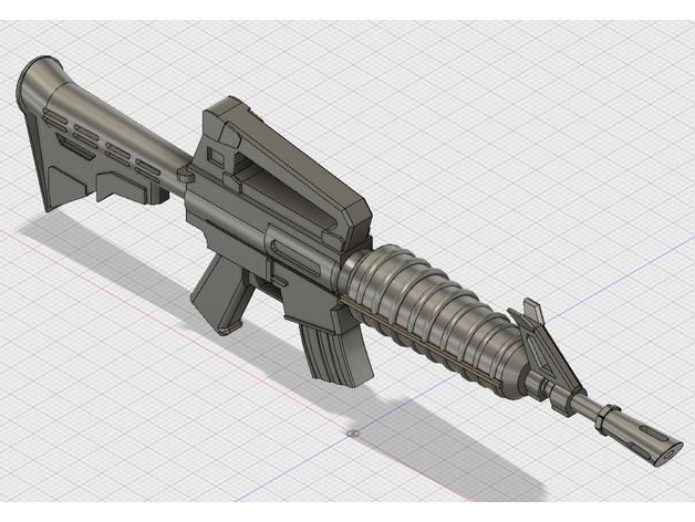 Fortnite Assault Rifle Ar By T Dawg Thingiverse