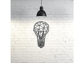 Light Bulb Wall Sculpture 2D