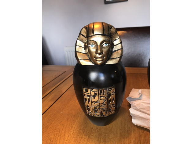 Ancient Egyptian Canopic Jar Imsety By Karluk2000