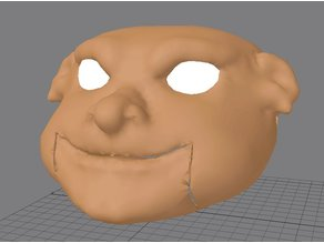 Ventriloquist puppet head-base