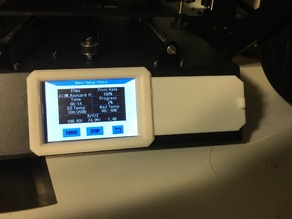Anycubic Mega S Faceplate with screen cover