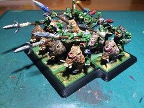 Movement Tray Cavalry Warhammer. Base Movimiento para caballería