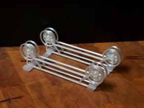 Spiralized Holder / Rail for Skeleton TUSH