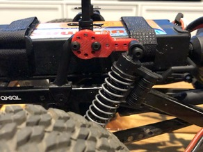 Axial Scx10 shock relocation mount