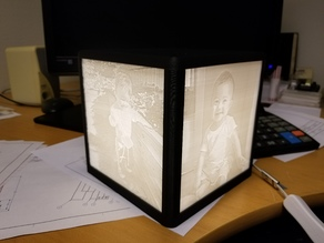 Lithophane Lamp with LED-strip