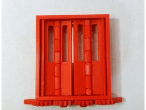 Articulated folding tramway doors (print in place)