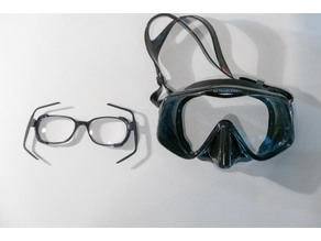 Glasses Mount for Scuba Goggles