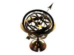 Celestial Armillary Antique Globe