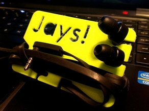 Earbud-Wrap holder (Buissnes card sized) for my Jays Earphones.