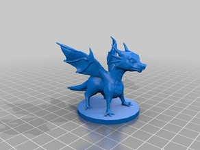 Baby Dragon on 45mm base