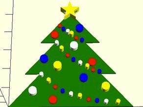 Customisable Christmas Tree Ornament