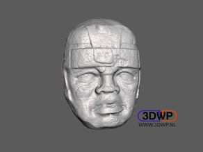 Olmec Head Wall Hanger