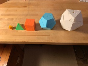 All Five Platonic Solids Puzzle
