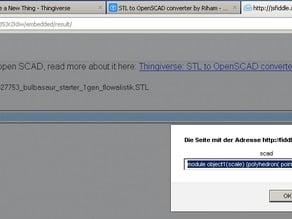 stl2scad online - convert stl to scad