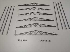 piezas de la estructura de una nave industrial