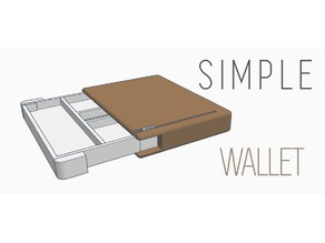 Box wallet - with extra space for bills