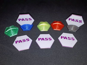 RifRaf Game Pass Markers -Designed for Terraforming Mars but has multi uses.