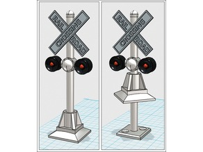 Flashing Model Railroad Crossing Signs - O Gauge