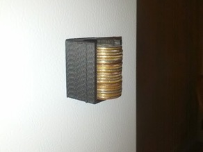 Fridge magnet quarter holder