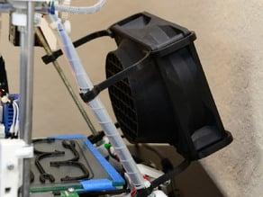 Laminar flow shroud for 120mm fans