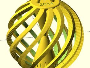 Parametric Christmas Ornament Ball