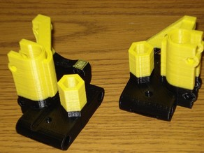 6mm Improved X ends for Prusa with clamped rods