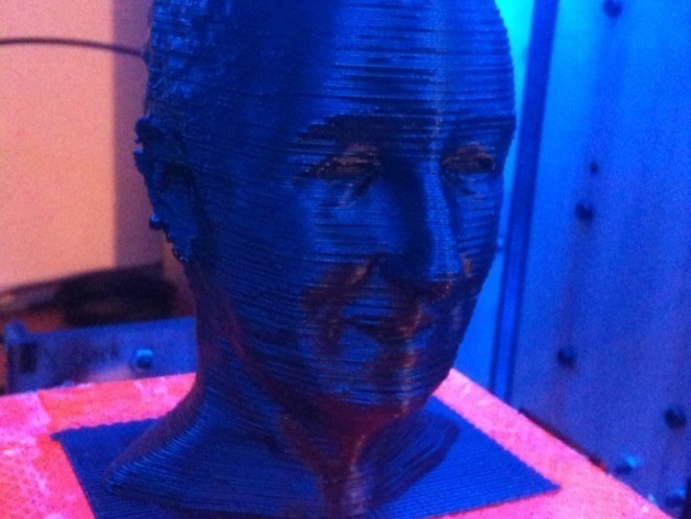 Walt disney's bust, good side