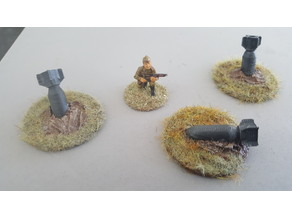 Aerial Bombs for 28mm Wargaming
