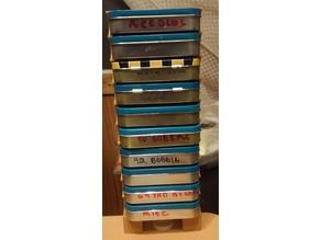 Altoids 10 tin  storage rack and 94.5mm inside width