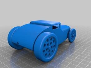3D Printable Wind Up Hot Rod