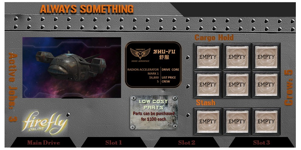 Shiney Cargo Hold Expansion Firefly Boardgame