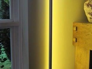 LED bar wall brackets