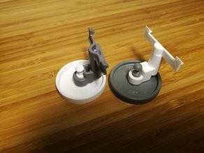 AEG compact dishwasher wheel and