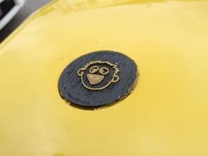 43mm diameter 3E8 logo medallion
