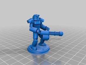 Minigun Fallout t60 Power Armor Zeerust Retrofuturistic 28mm