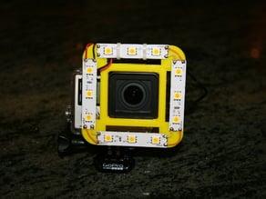 Gopro Hero4 / Hero3 universal light ring / diffuser / support