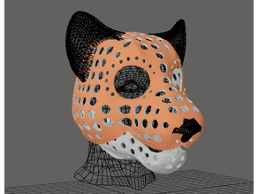 Fursuit- or puppet-head base - version 53 - lion
