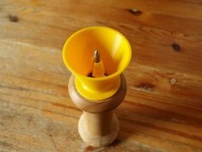 Pepper grinder funnel