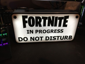 Fortnite Sign Light Box